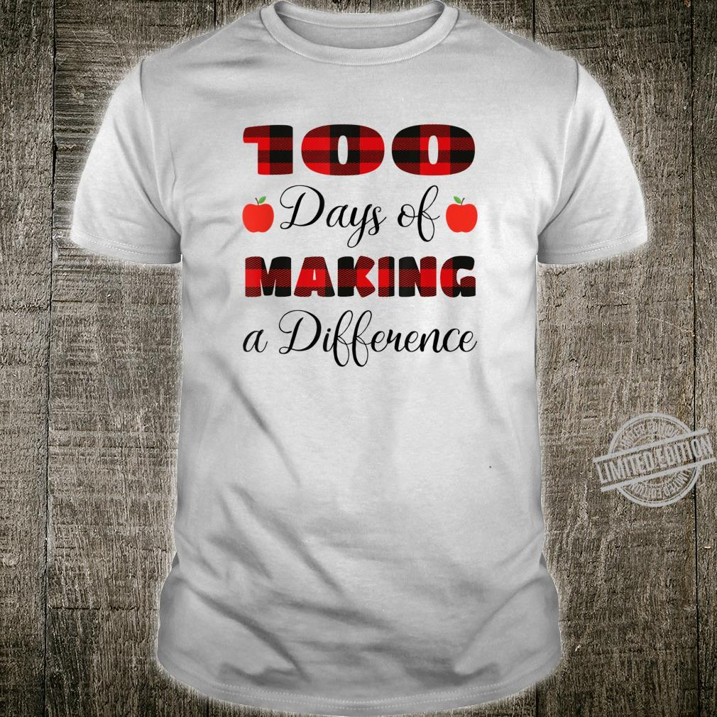 100 Days Of Making Difference 100th Day Of School Shirt