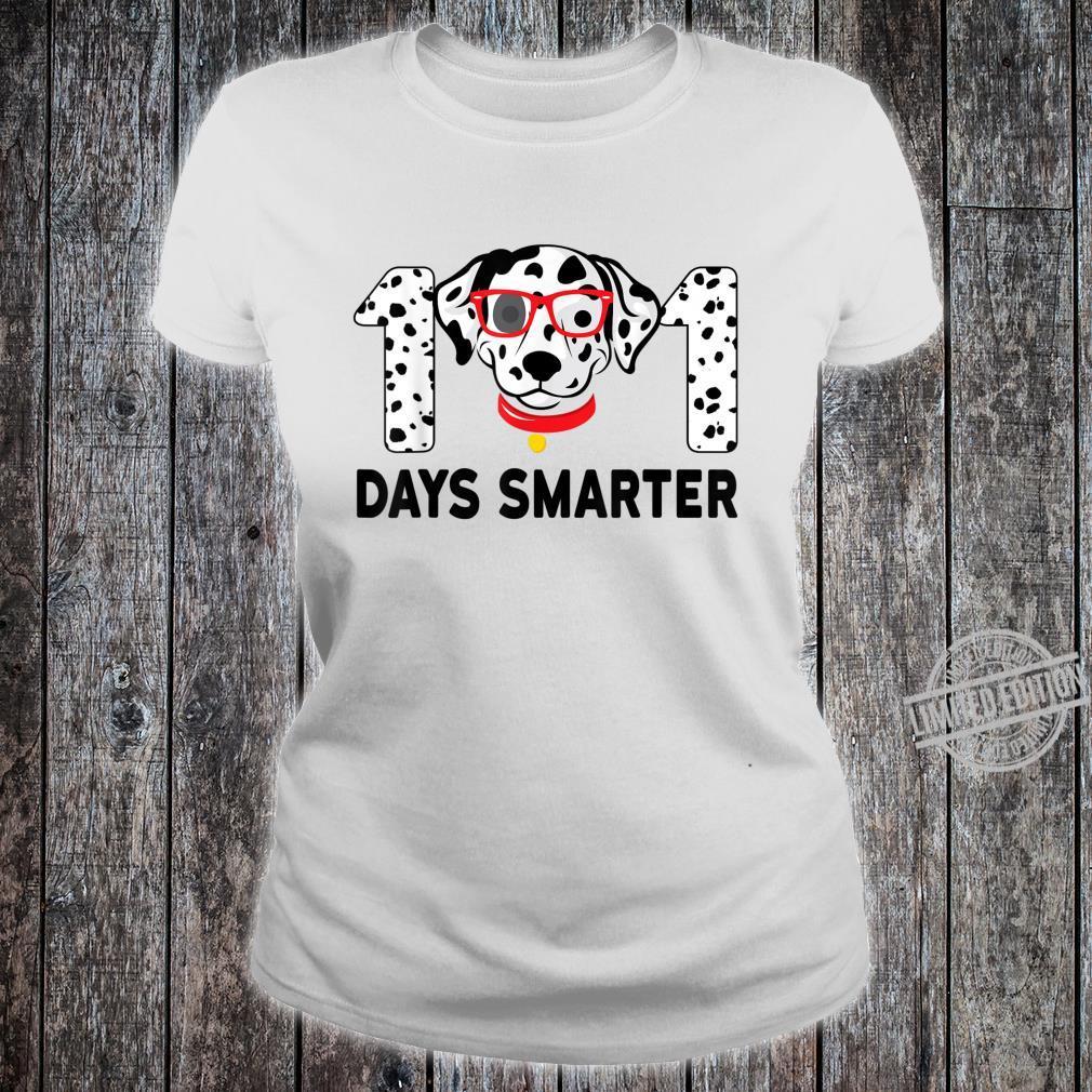 101 Days Smarter Dalmation Dog Teachers Costume Shirt ladies tee