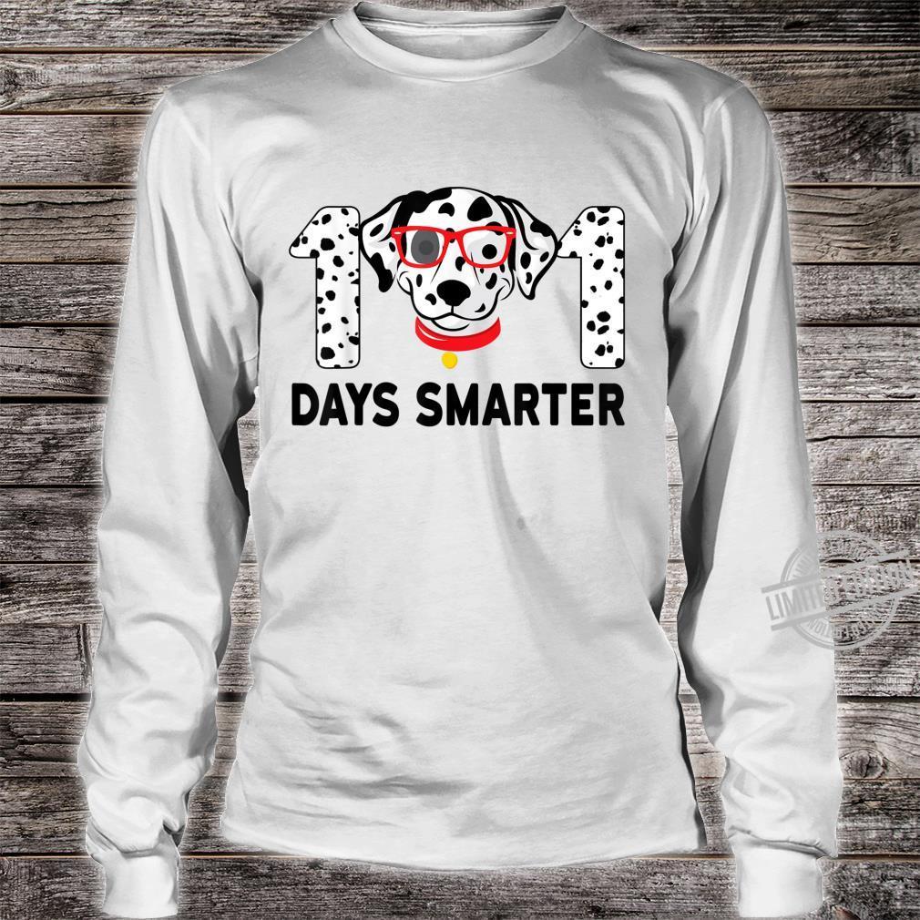 101 Days Smarter Dalmation Dog Teachers Costume Shirt long sleeved