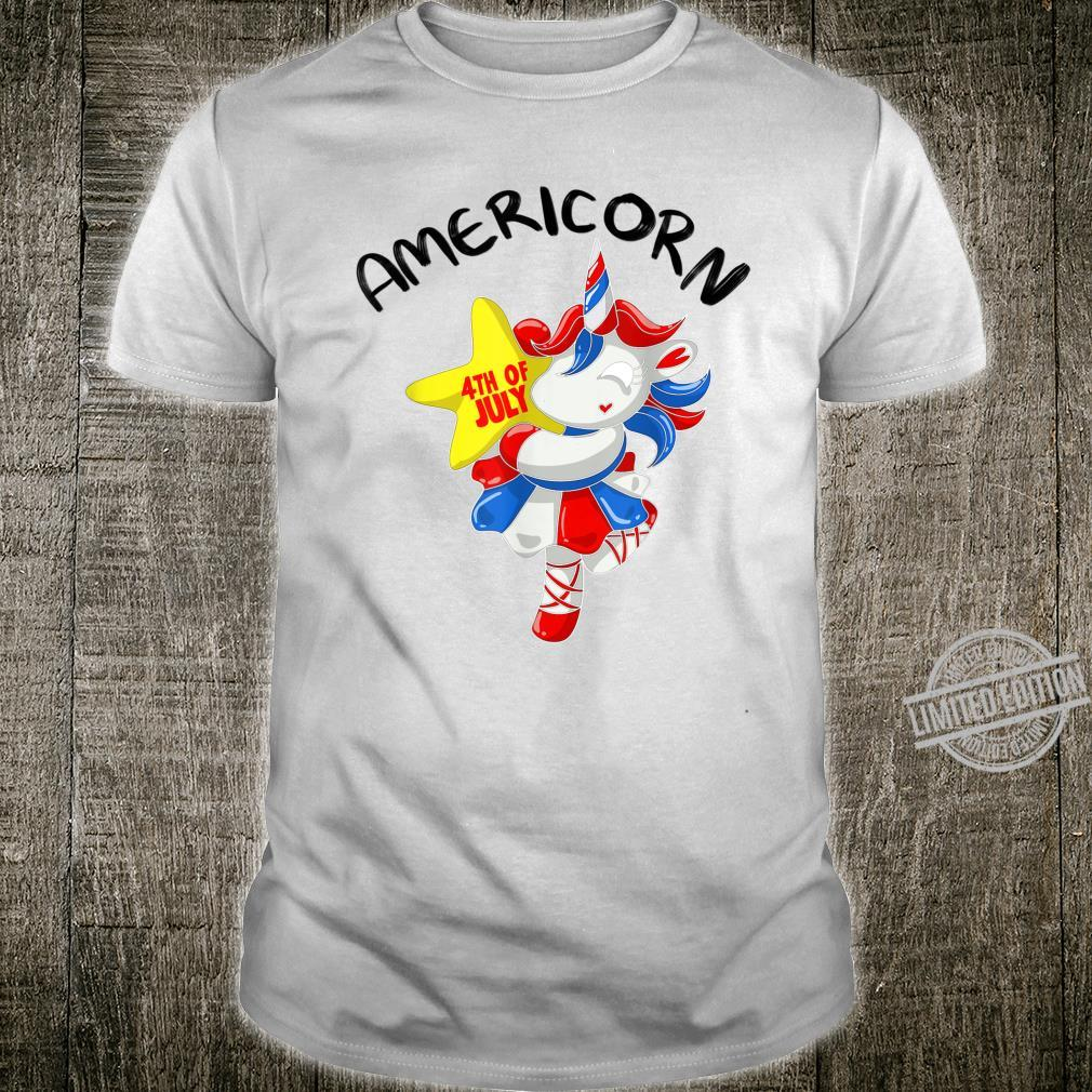 Americorn Cool USA Love Unicorns 4th of July US Shirt