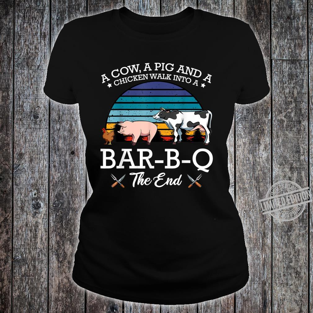 BarBQ Barbecue Party Fleischfresser Huhn Rind Schwein Shirt ladies tee