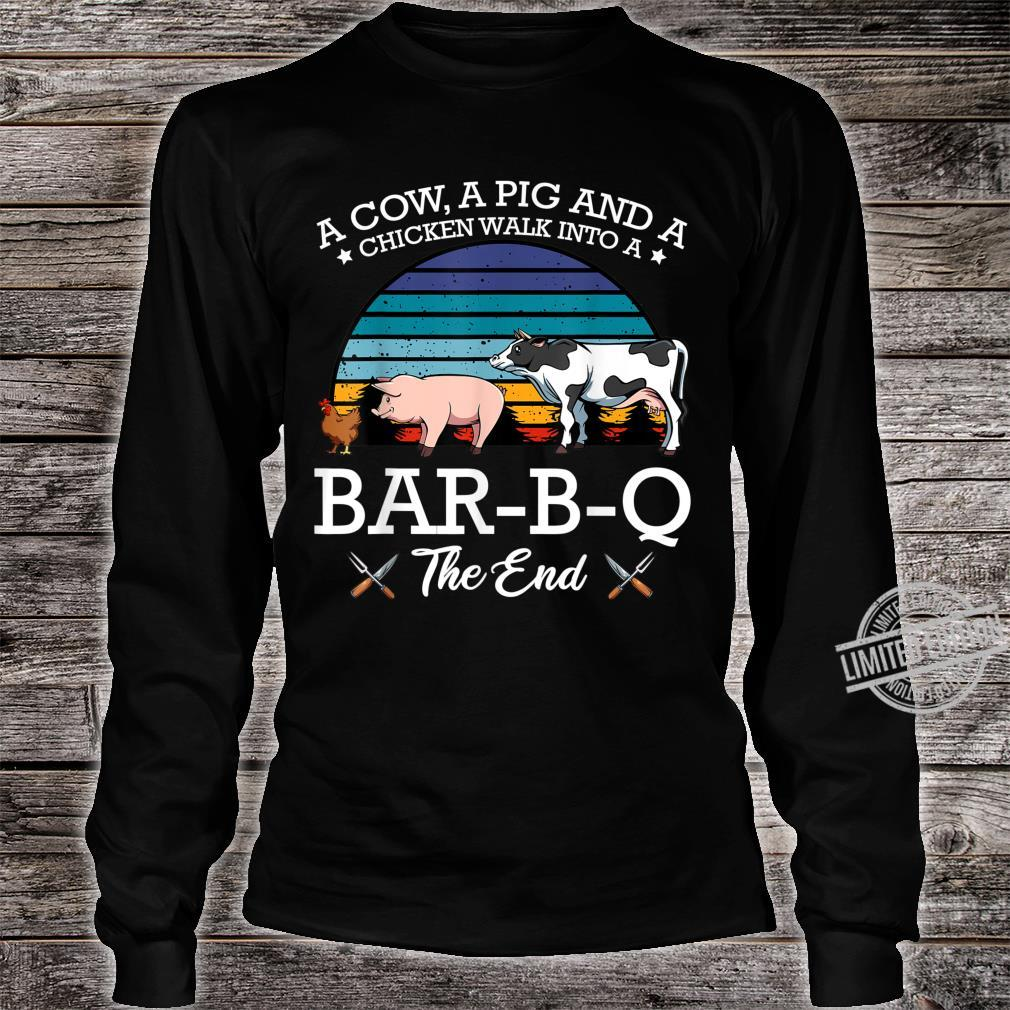 BarBQ Barbecue Party Fleischfresser Huhn Rind Schwein Shirt long sleeved