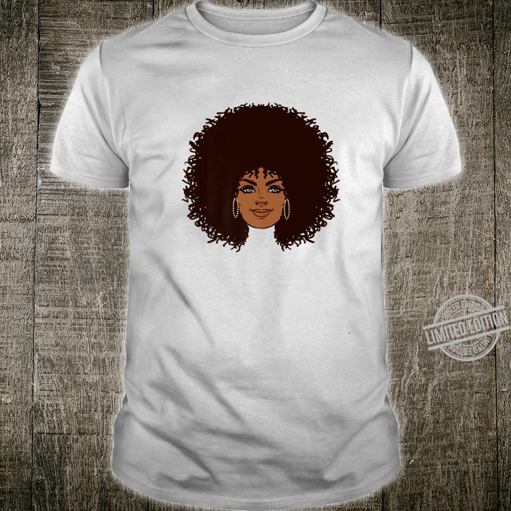 Black History Month African American apparel Afro face Hair Shirt