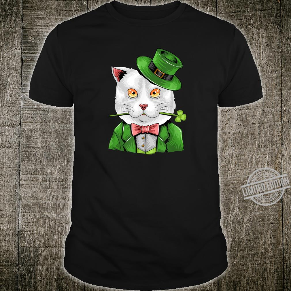 Cat Leprechaun Shirt Cat Shamrock St Patrick's Day Shirt