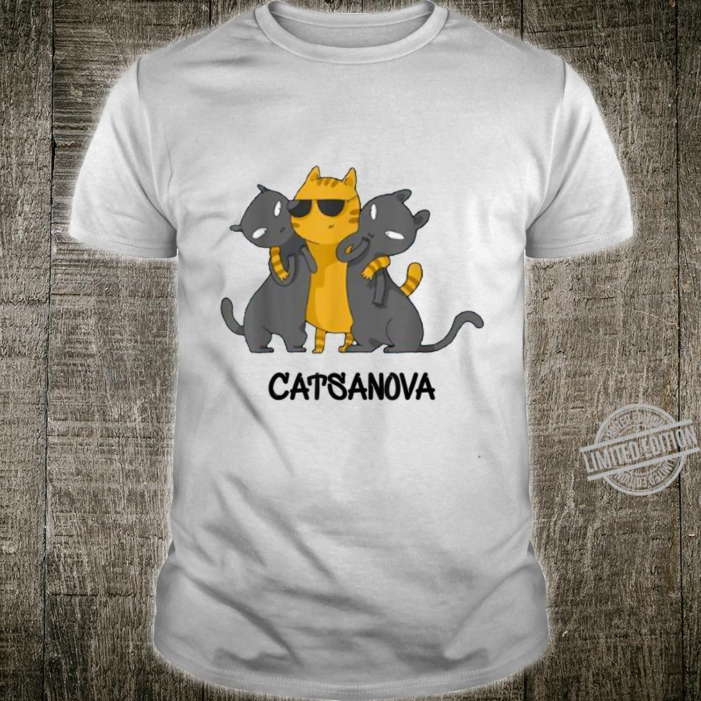 Catsanova Cat Kitten Kitty Whiskers Meow Cool Humor Shirt