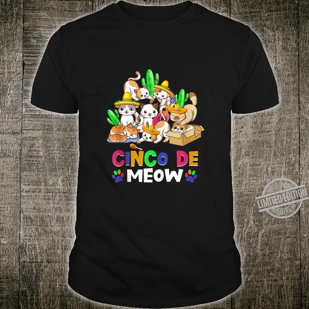 Cinco De Meow Cinco DeMayo Cats Shirt
