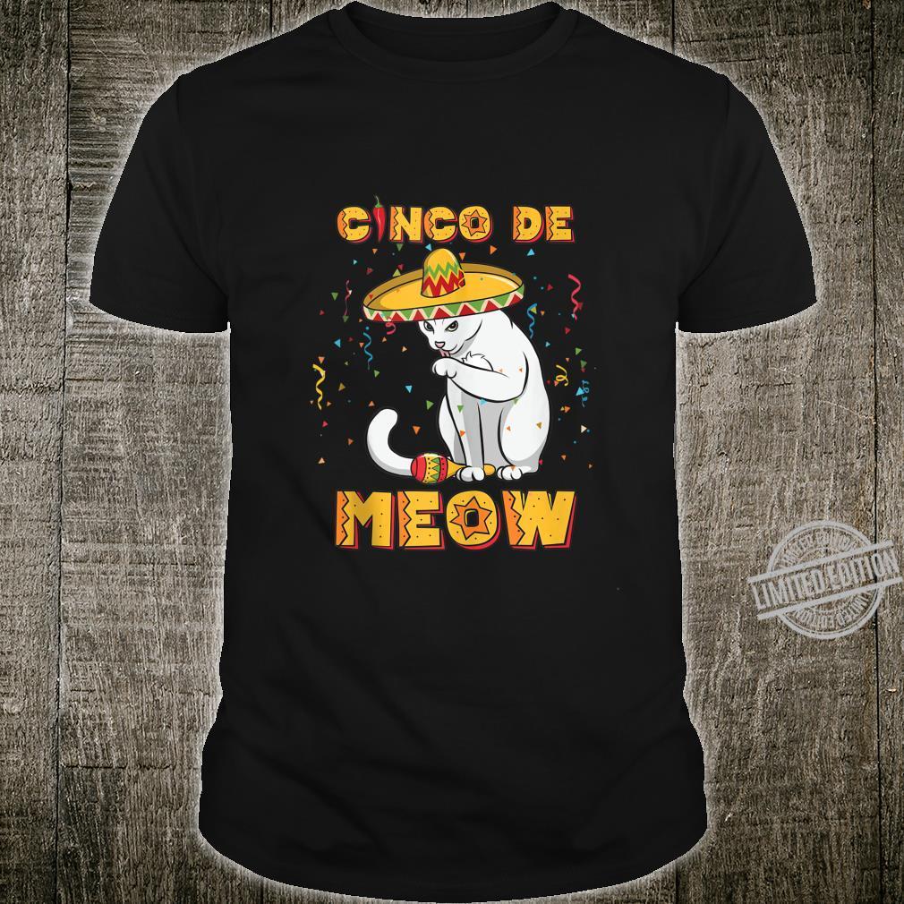 Cinco De Meow Shirt Sombrero Cat Cinco De Mayo Shirt
