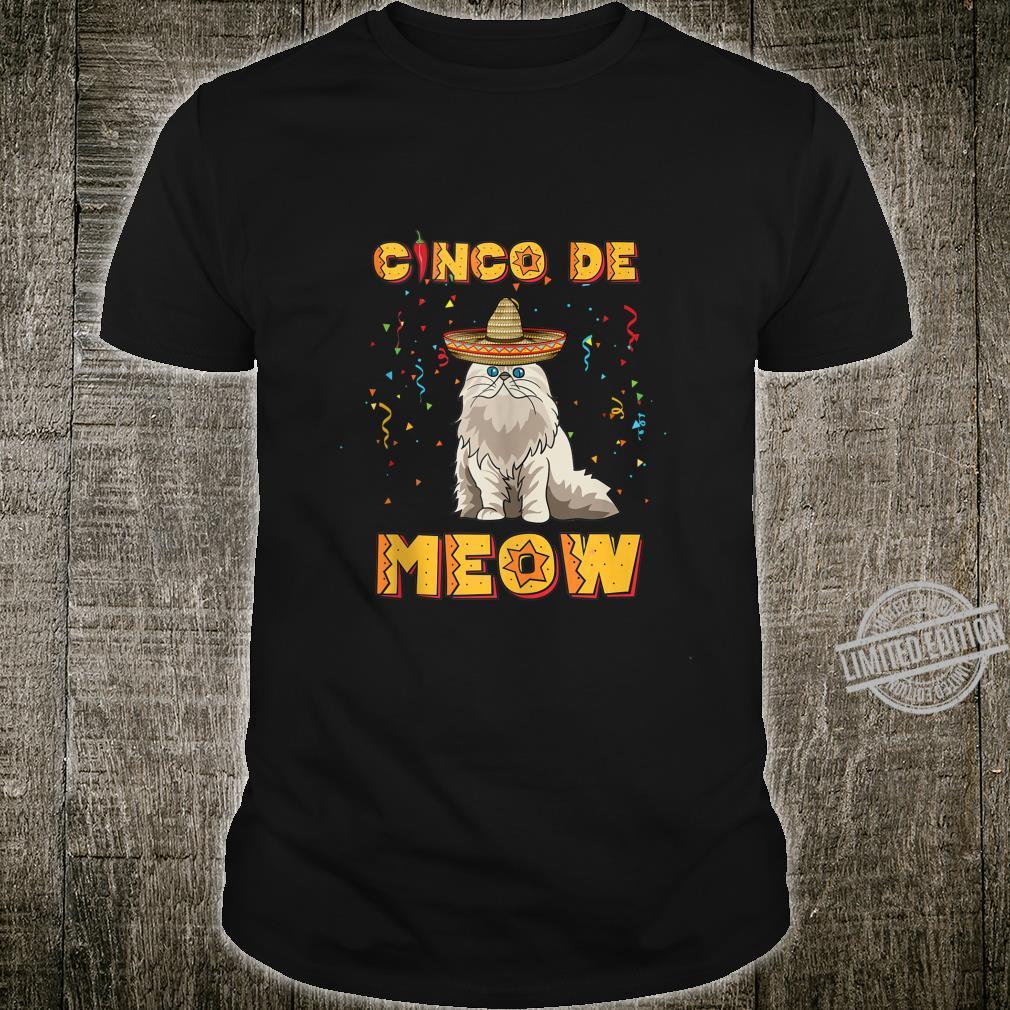 Cinco De Meow Shirt Sombrero Cats Cinco De Mayo Shirt