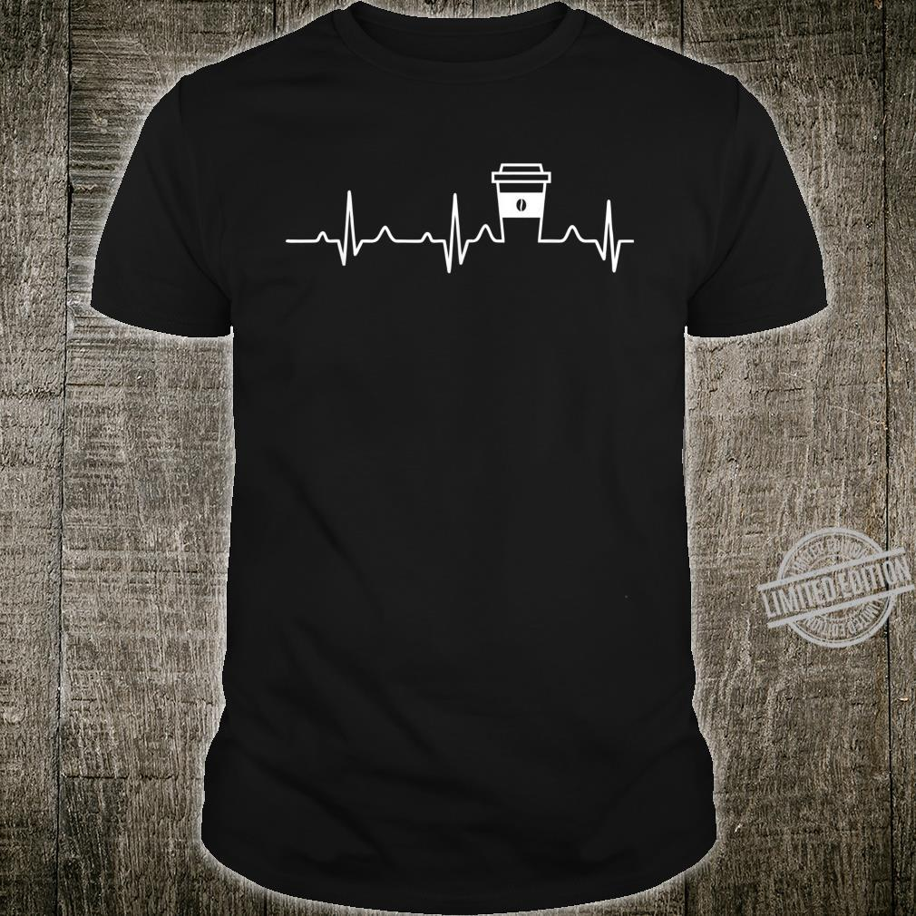 Coffee Heartbeat Coffee Cup Caffeines Shirt
