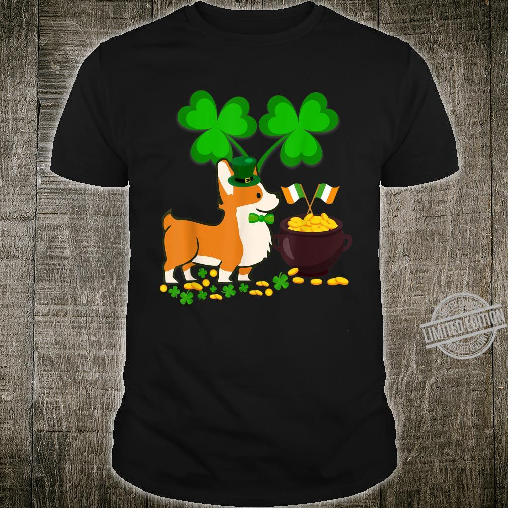 Cool Dog Corgi St Patrick's Day Shirt