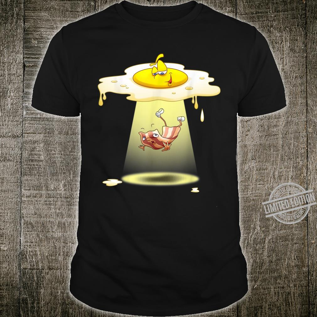 Cool Egg Abducting Bacon Alien UFO Breakfast Food Shirt