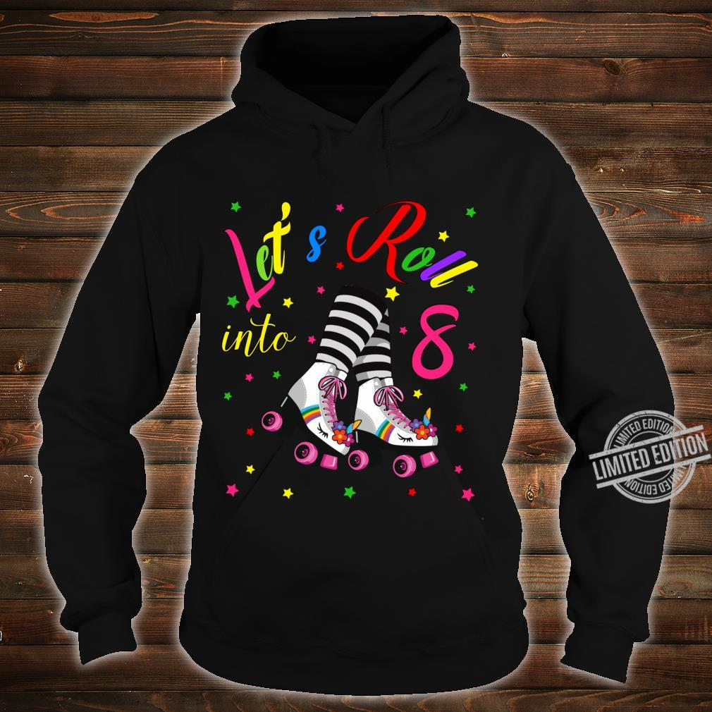 Cute 8th Unicorn Roller Skate Birthday Party for Girls Shirt hoodie