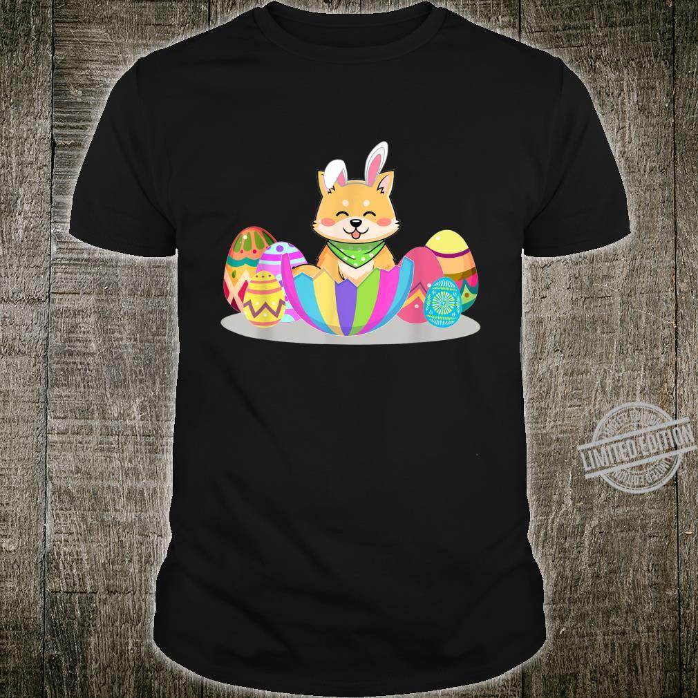 Cute Easter Idea For Shiba Inus With Easter Eggs Shirt