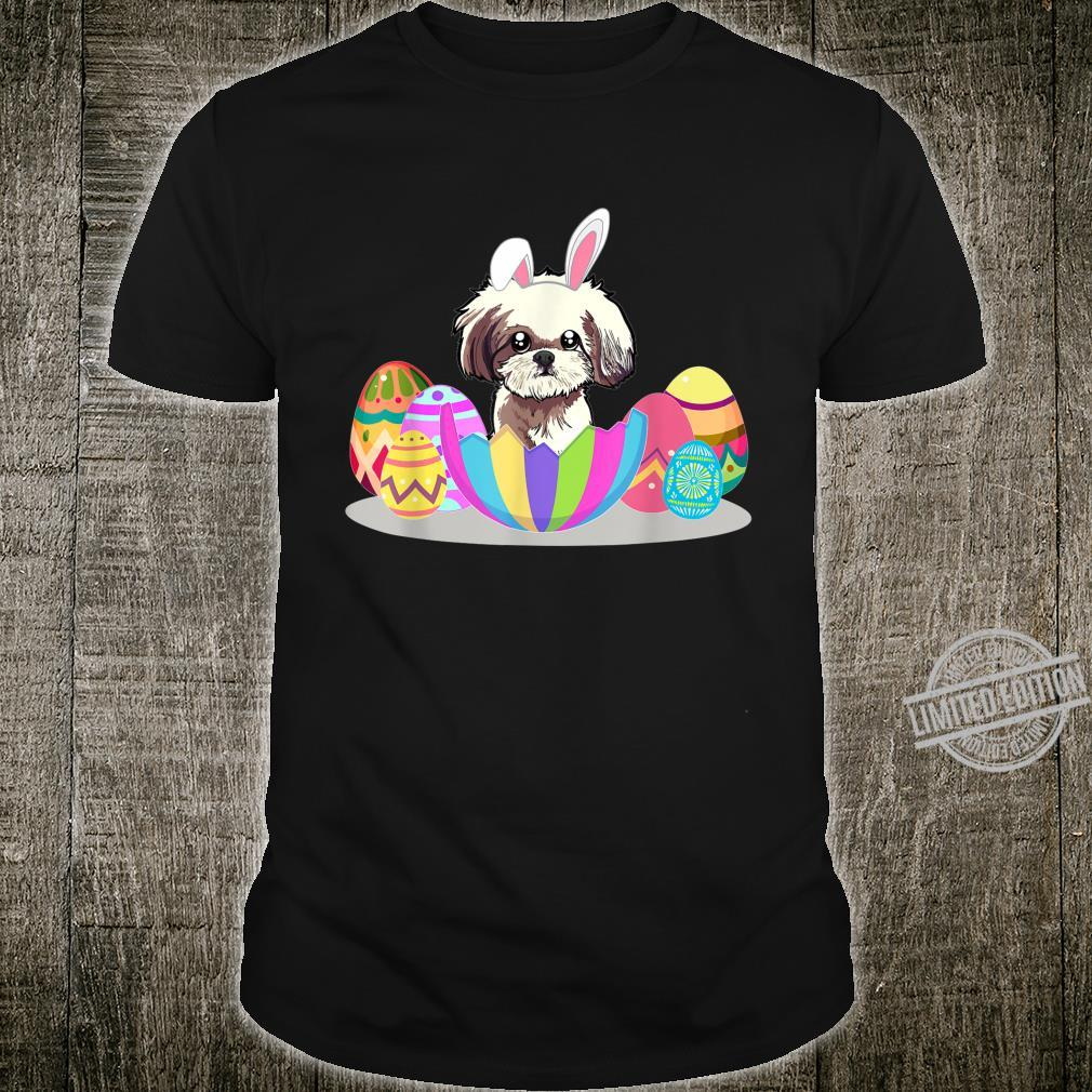 Cute Easter Idea For Shih Tzus With Easter Eggs Shirt