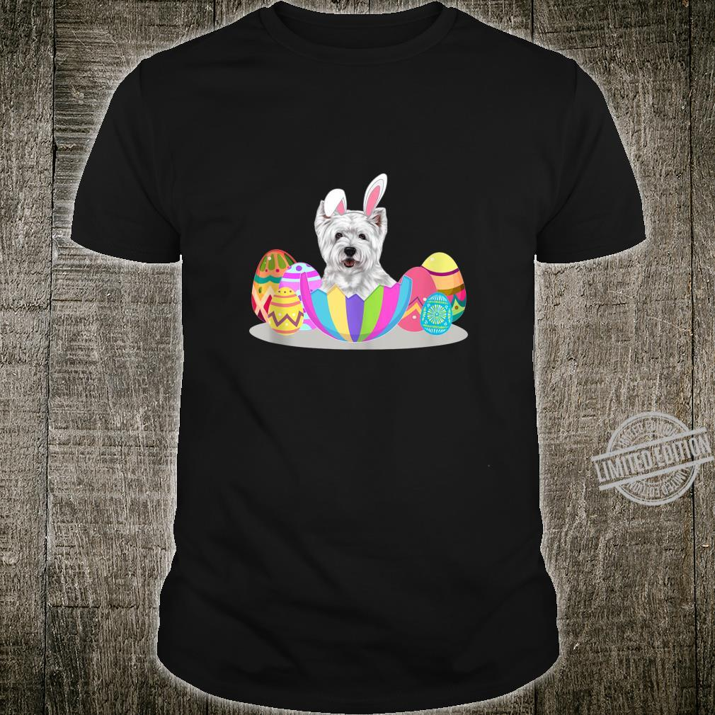 Cute Easter Idea For Westies With Easter Eggs Shirt