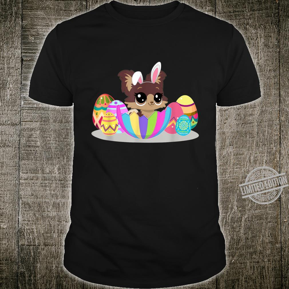 Cute Easter Idea For Yorkies With Easter Eggs Shirt