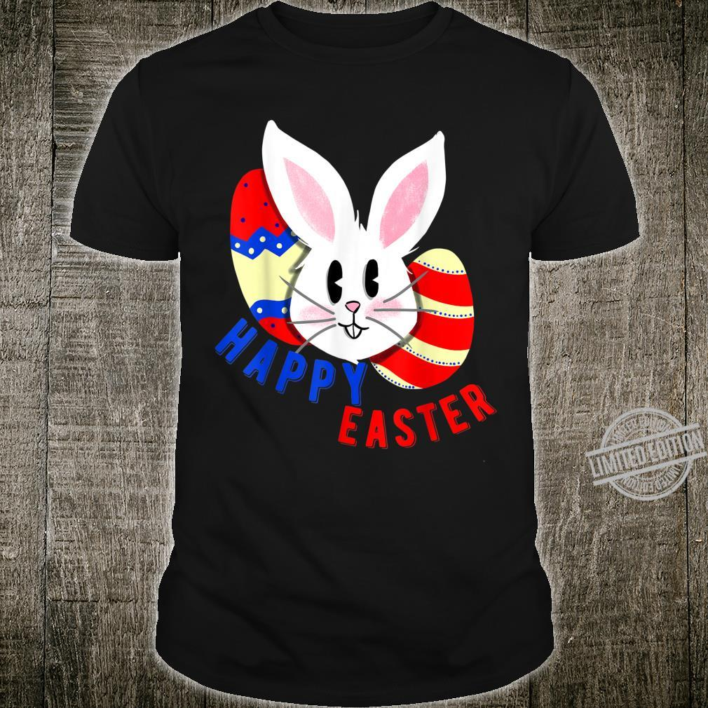 Cute bunny face with easter eggs happy easter for Shirt