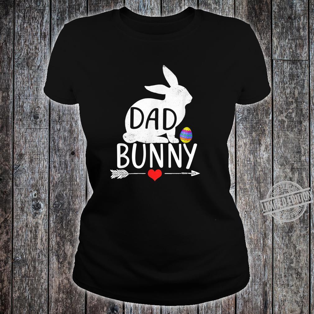 Dad Bunny Cute Matching Family Shirt ladies tee