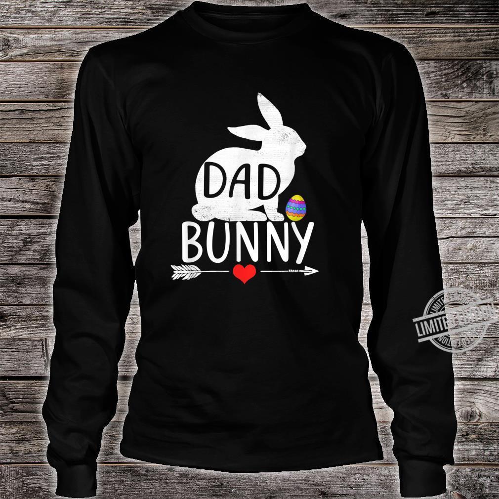 Dad Bunny Cute Matching Family Shirt long sleeved