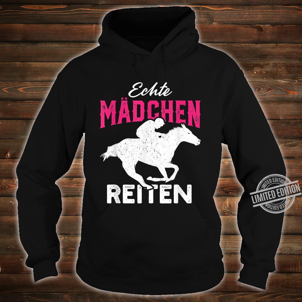 Echte Mädchen reiten Haflinger Isländer Liebe Shirt hoodie