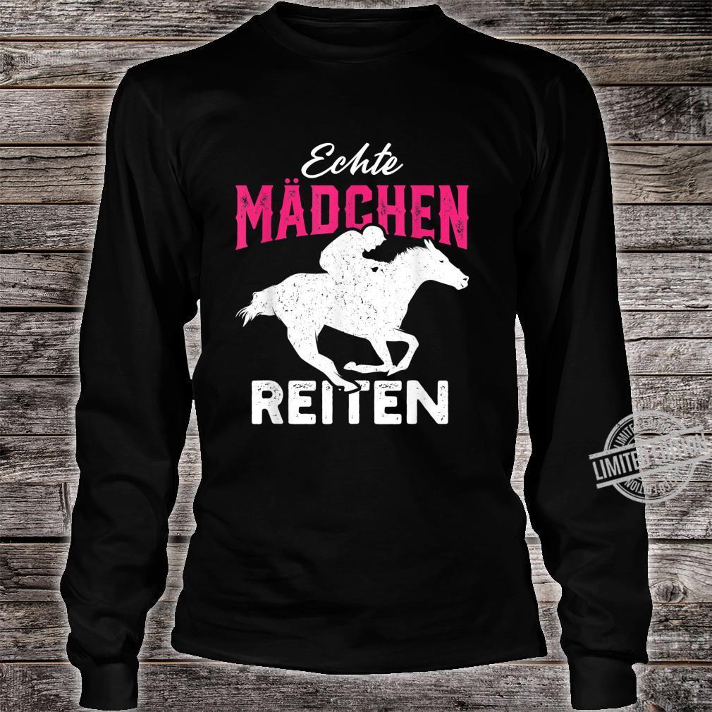 Echte Mädchen reiten Haflinger Isländer Liebe Shirt long sleeved