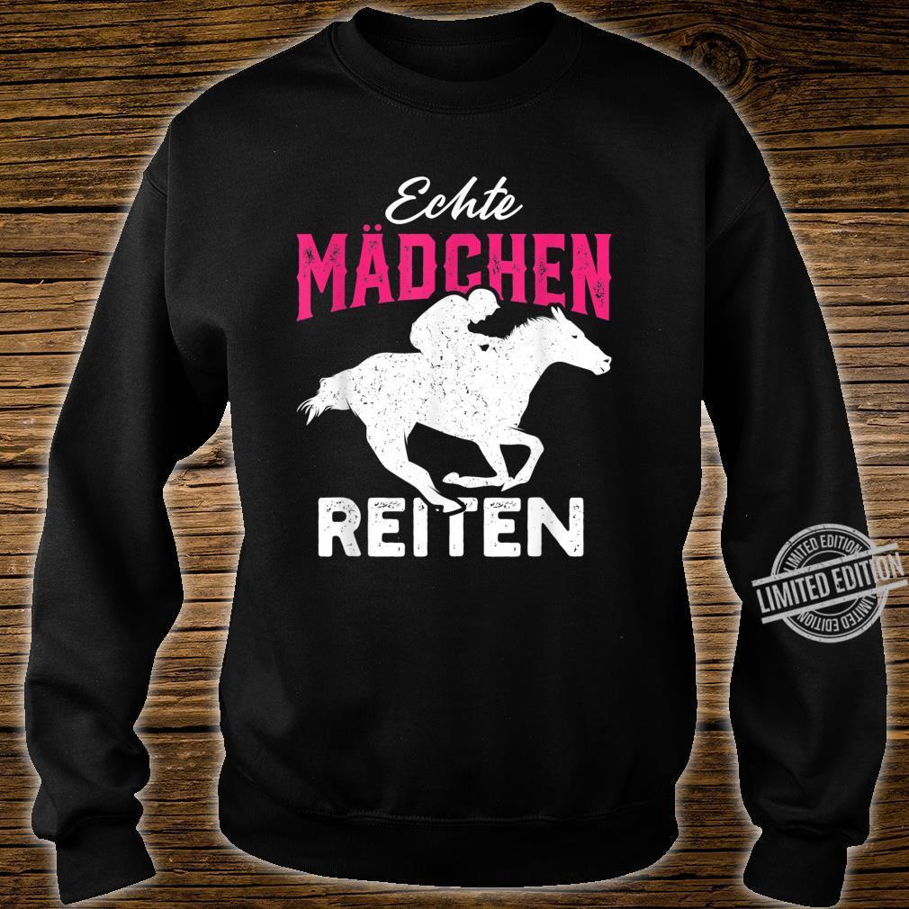 Echte Mädchen reiten Haflinger Isländer Liebe Shirt sweater