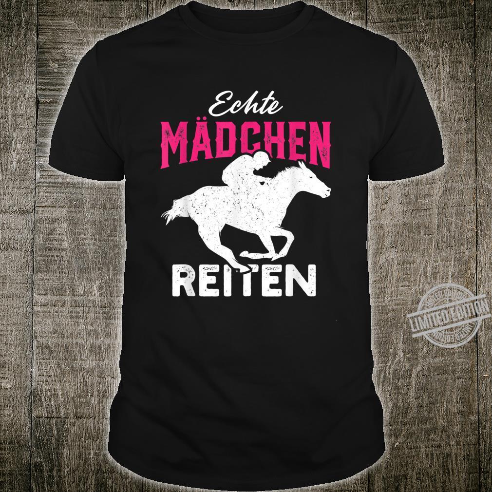 Echte Mädchen reiten Haflinger Isländer Liebe Shirt
