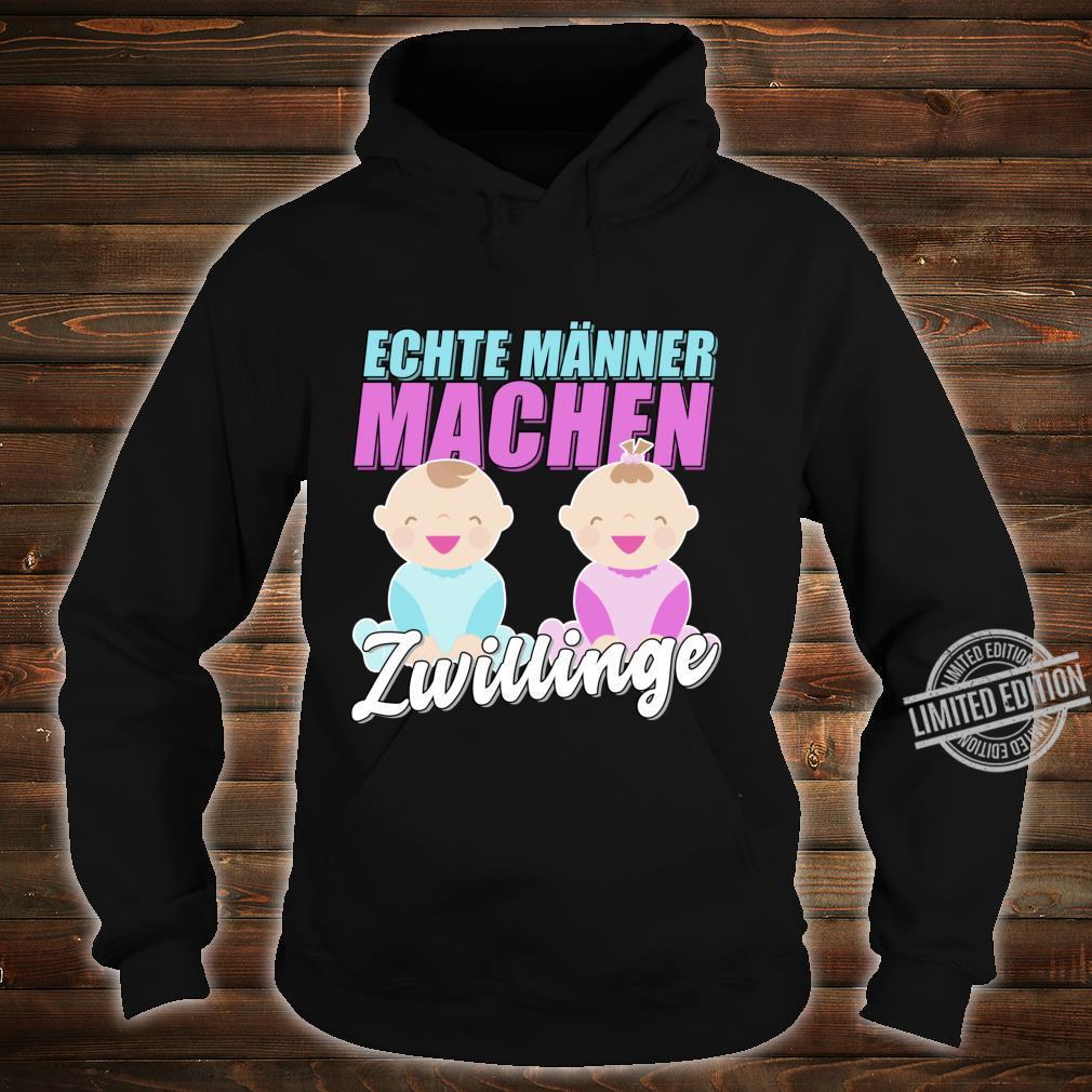 Echte Männer machen Zwillinge 2020 Werdender Vater Geschenk Langarmshirt Shirt hoodie