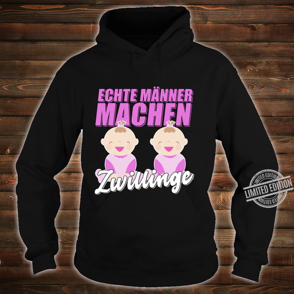 Echte Männer machen Zwillinge Werdender Vater Geschenk Langarmshirt Shirt hoodie