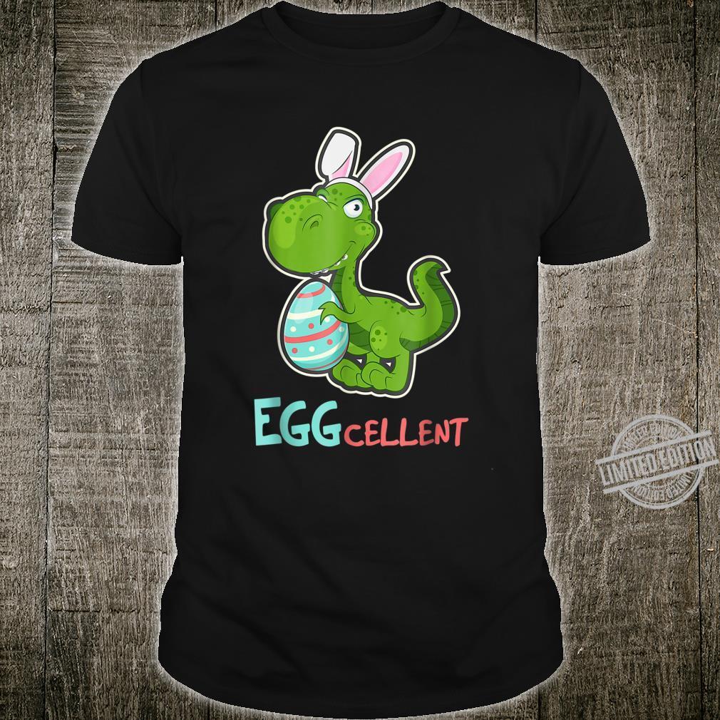 Eggs Cellent Easter Bunny TRex Dinosaur Shirt