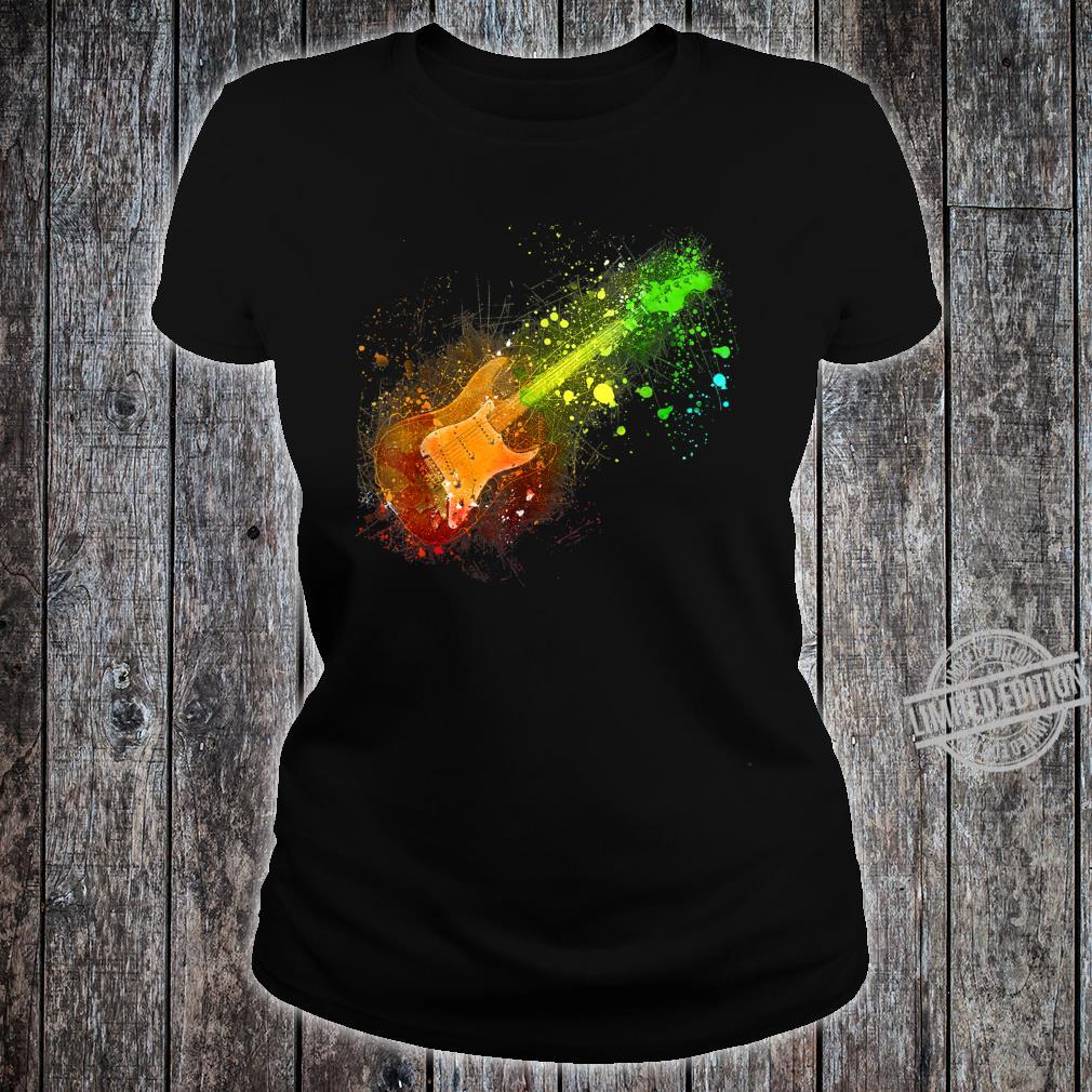 Electric Guitar Retro Rock Music Musician Player Shirt ladies tee