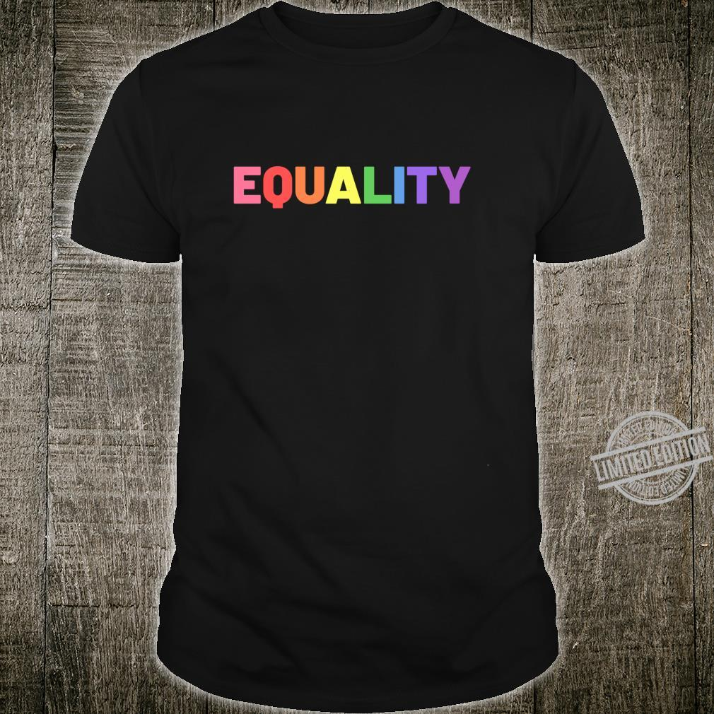 Equality in Rainbow Pride Flag Colors Gay Pride Distressed Langarmshirt Shirt