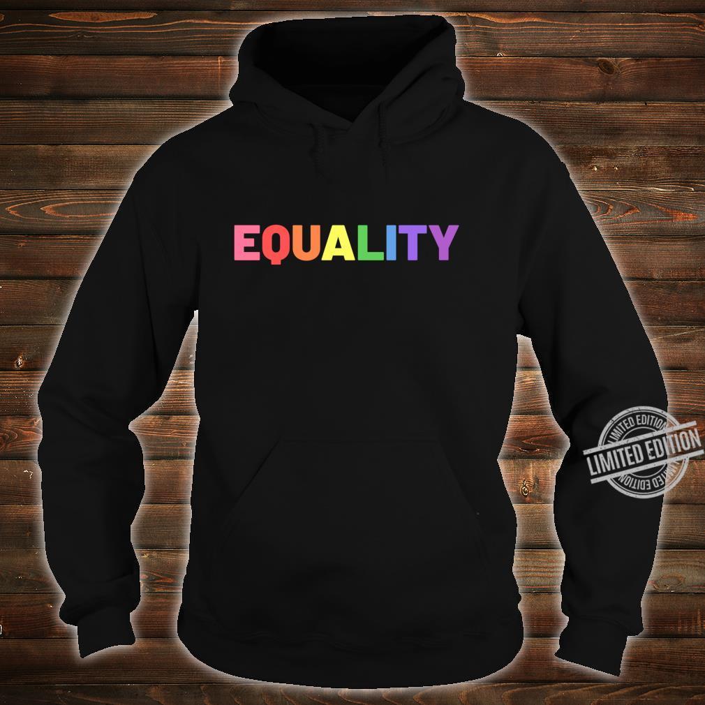 Equality in Rainbow Pride Flag Colors Gay Pride Distressed Langarmshirt Shirt hoodie