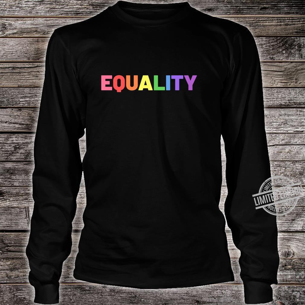 Equality in Rainbow Pride Flag Colors Gay Pride Distressed Langarmshirt Shirt long sleeved