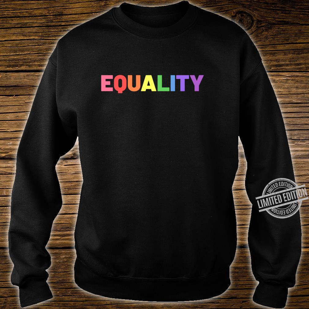 Equality in Rainbow Pride Flag Colors Gay Pride Distressed Langarmshirt Shirt sweater
