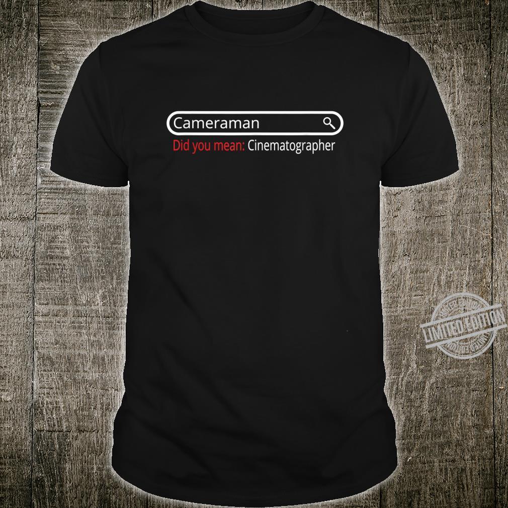 Filmemacher Kameramann Search Results Shirt