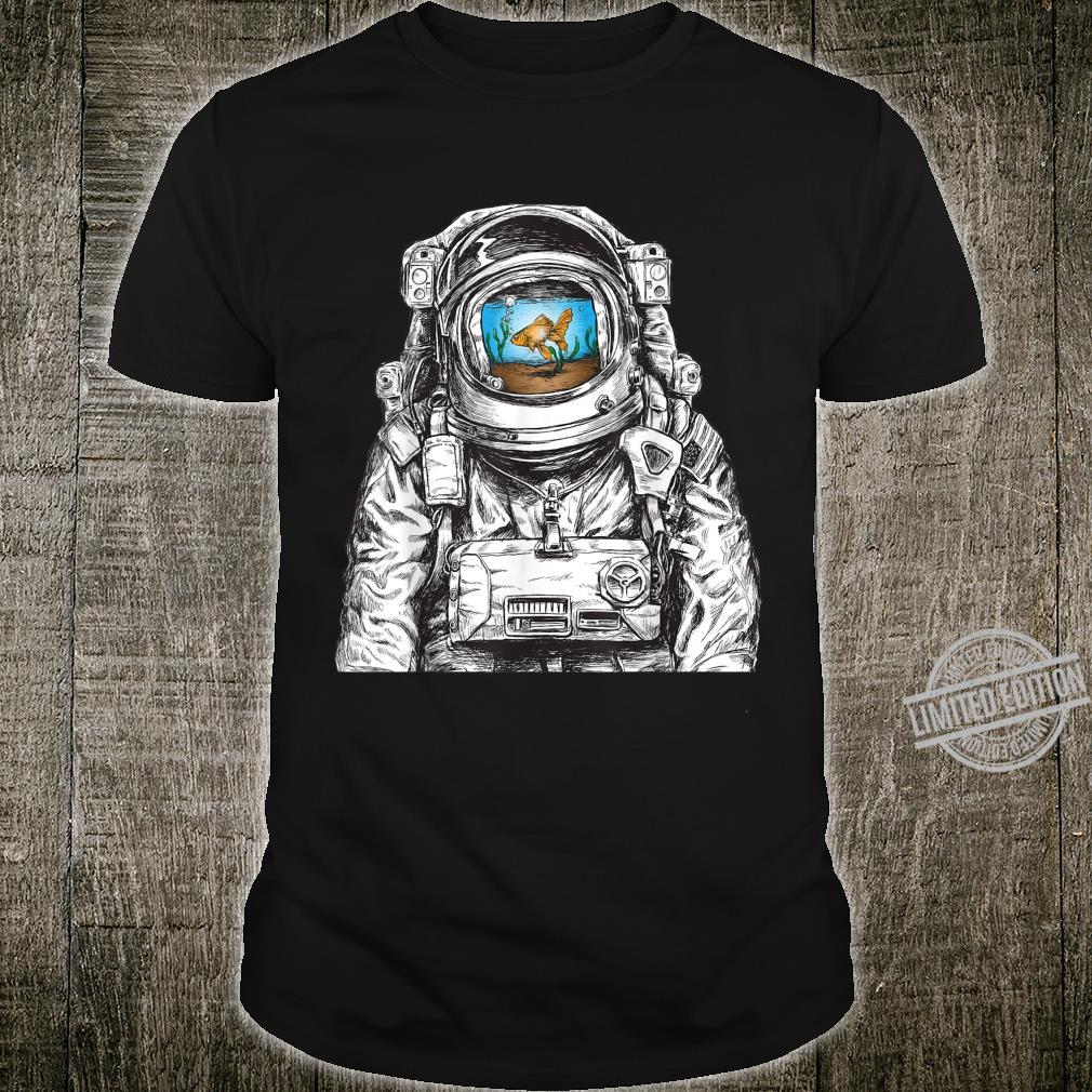 Fish Tank in Space Suit Astronaut Goldfish Space Shirt