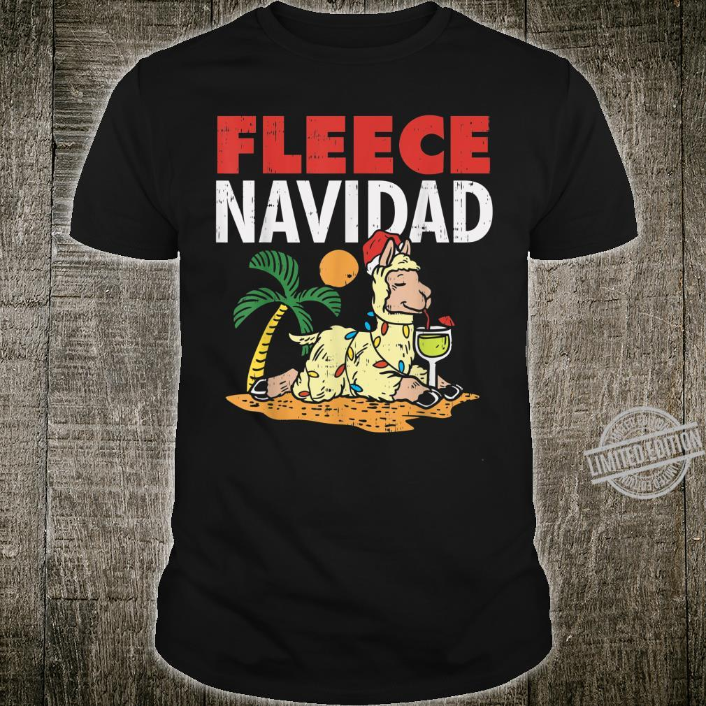 Fleece Navidad Summer Llama Christmas In July Shirt