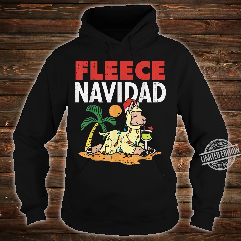 Fleece Navidad Summer Llama Christmas In July Shirt hoodie