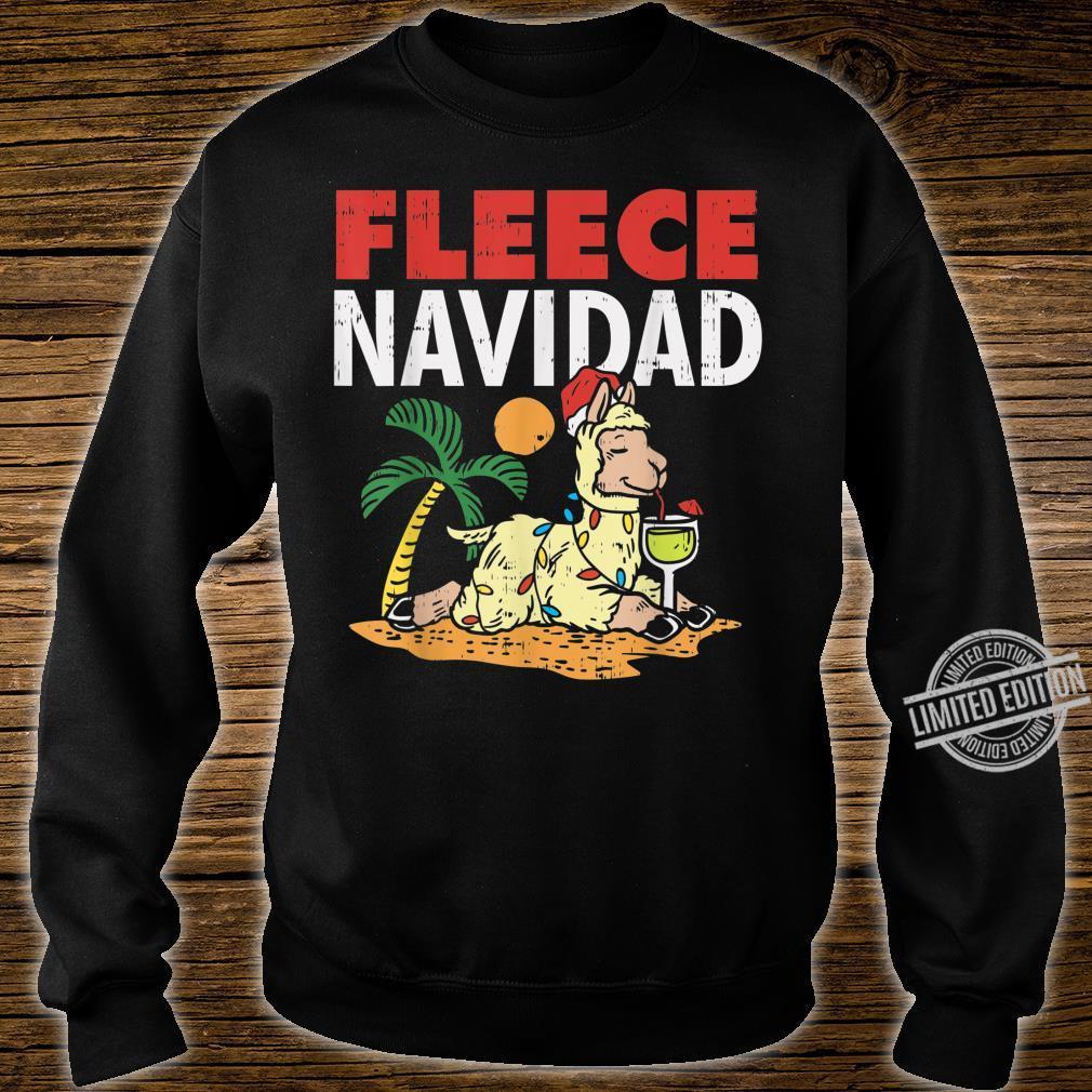 Fleece Navidad Summer Llama Christmas In July Shirt sweater