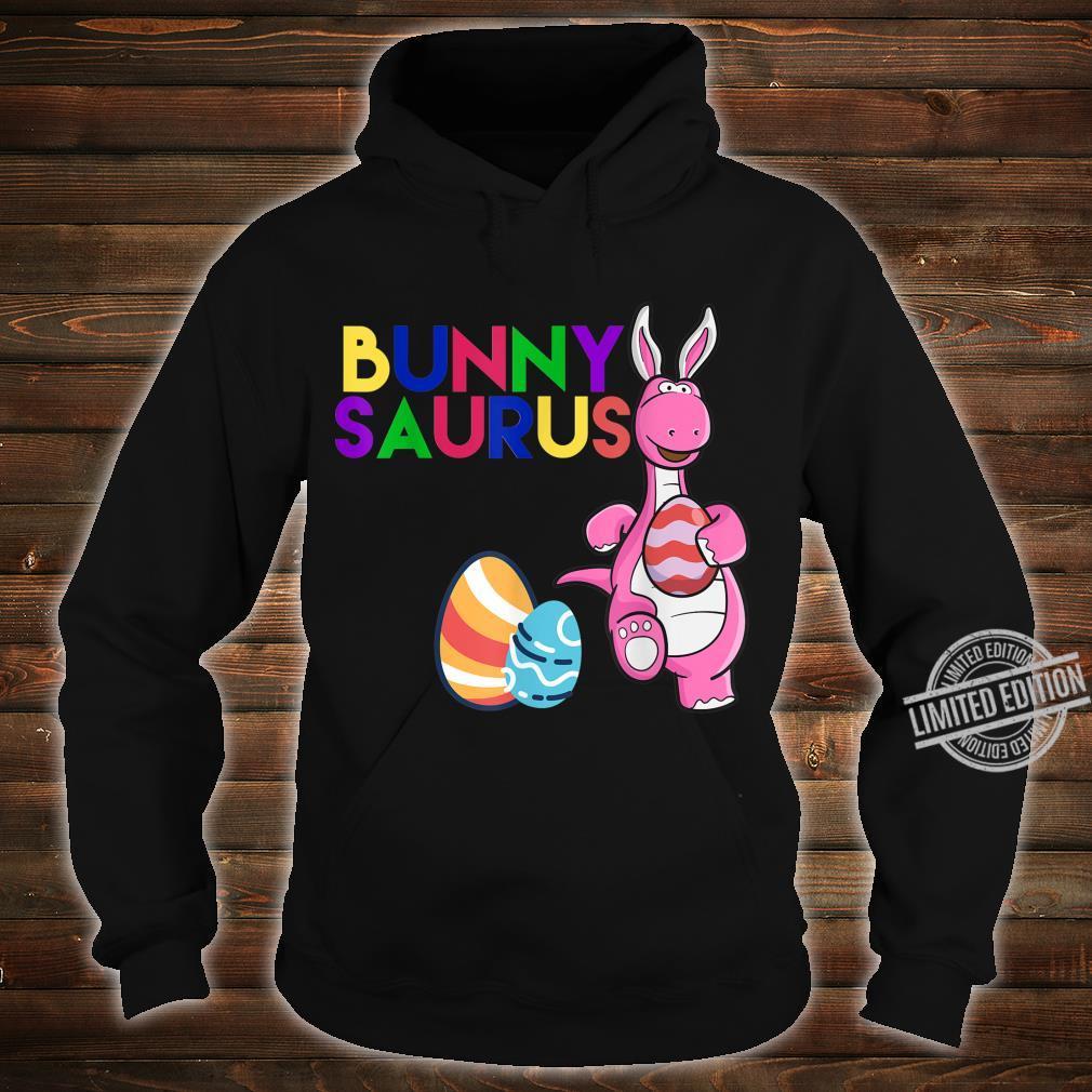 Funny Bunny Saurus Dinosaur Easter Egg Shirt Shirt hoodie