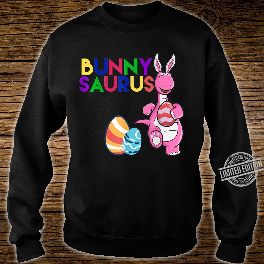 Funny Bunny Saurus Dinosaur Easter Egg Shirt Shirt sweater