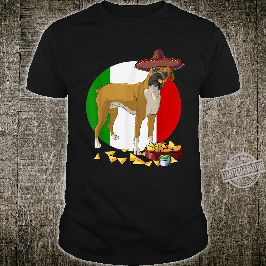 Funny Cinco De Mayo Mexican Boxer Dog Shirt