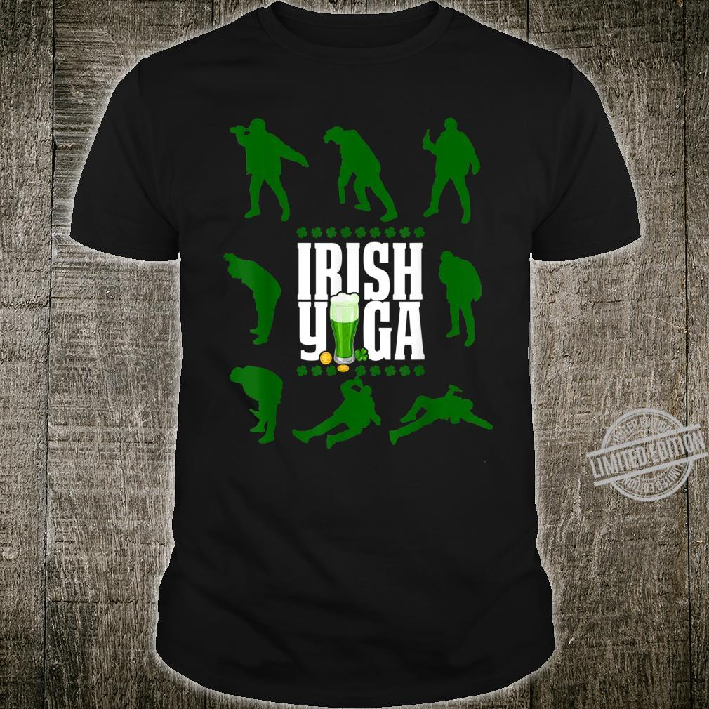 Funny Irish Yoga St Patricks Day Beer Drinking Shirt