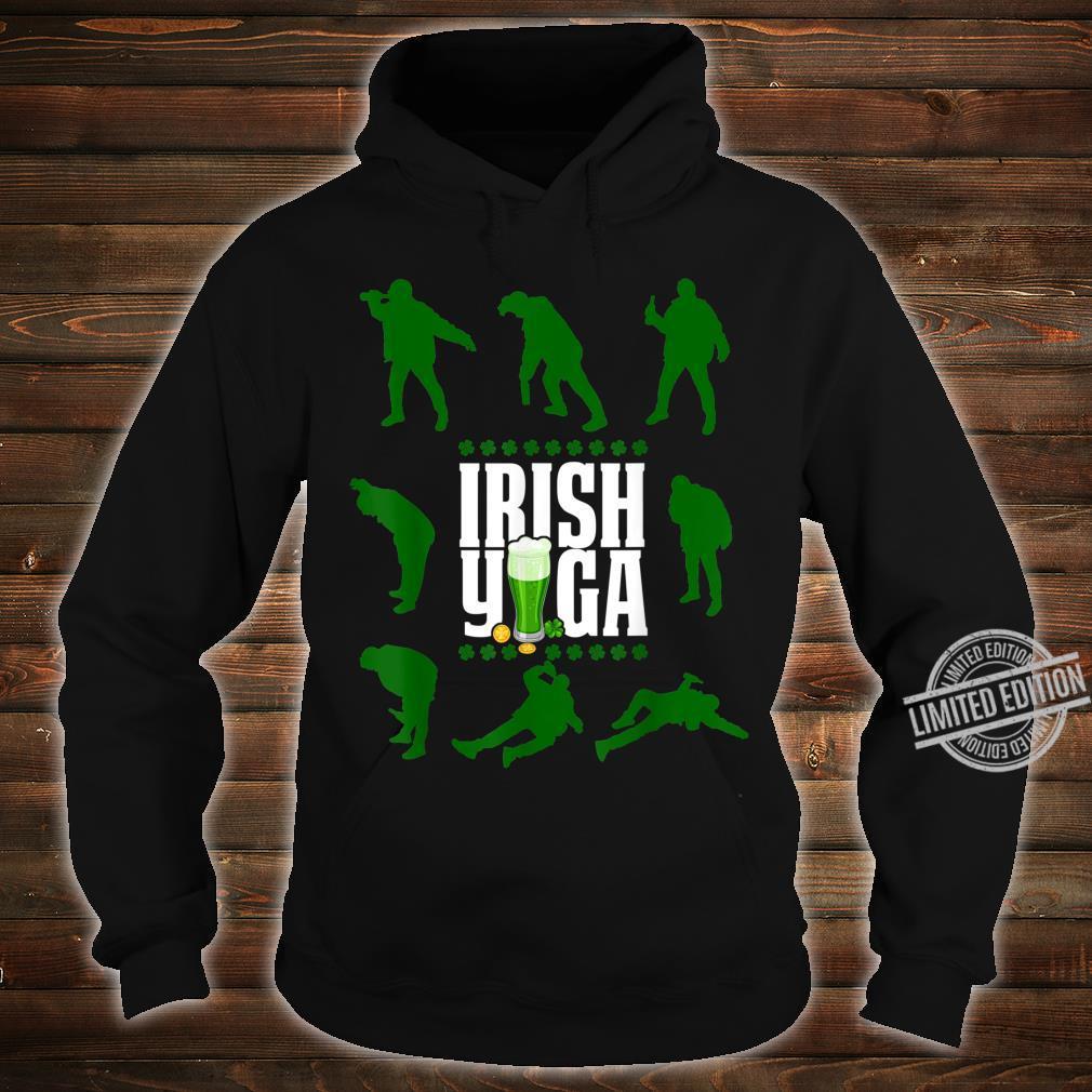 Funny Irish Yoga St Patricks Day Beer Drinking Shirt hoodie