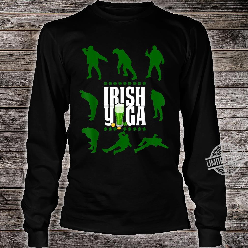 Funny Irish Yoga St Patricks Day Beer Drinking Shirt long sleeved