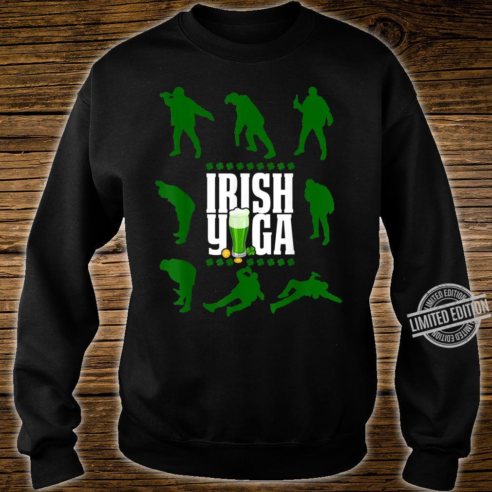Funny Irish Yoga St Patricks Day Beer Drinking Shirt sweater