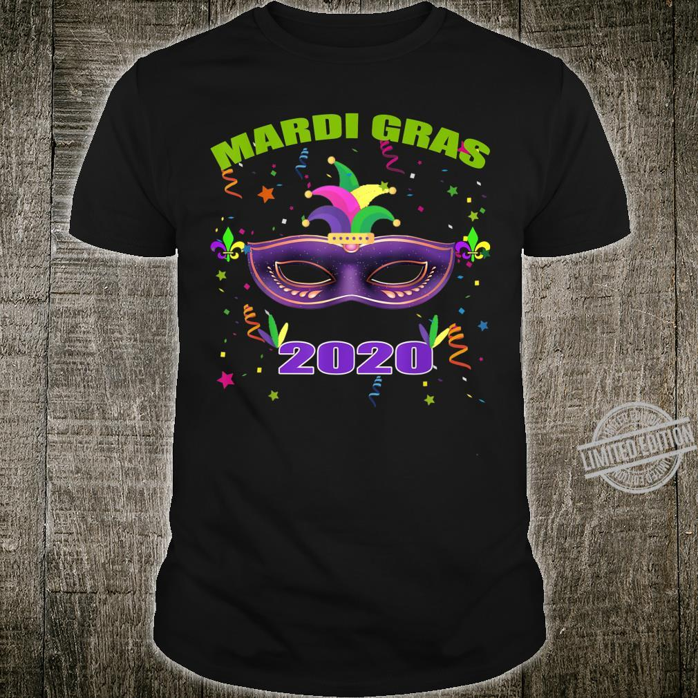 Funny Mardi Gras 2020 shirt mask Costume Shirt