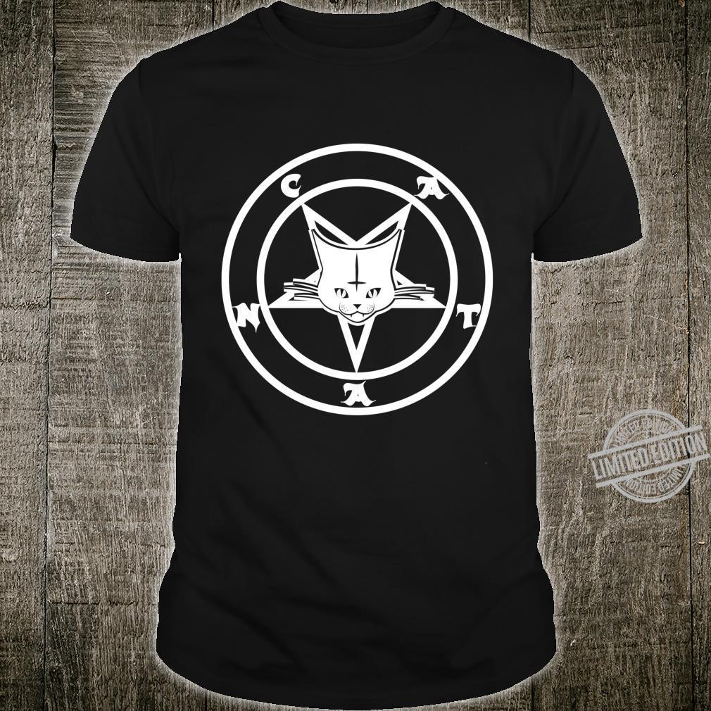 Gegrüßet seist du Catan Cat Satan Komisch von Finja Design Shirt