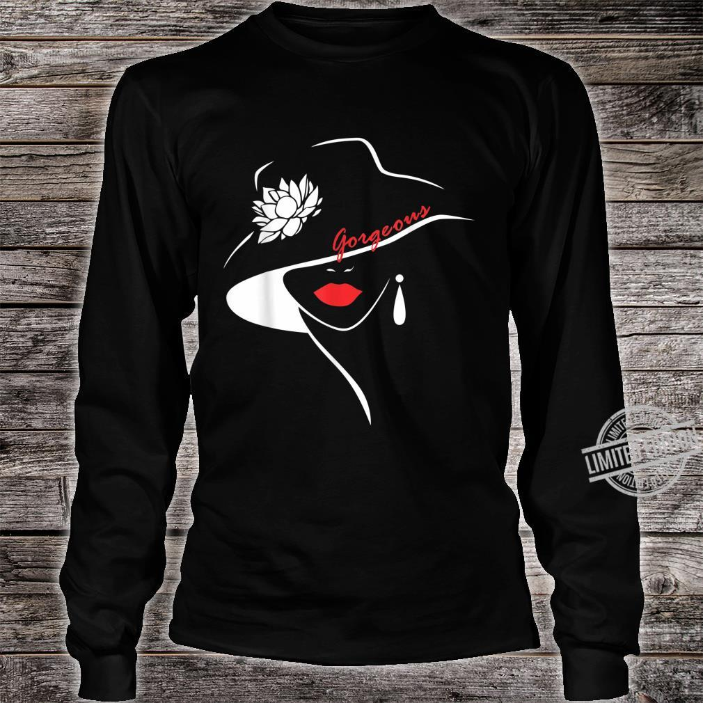 Girl Sweet Lip Red Lipstick Shirt long sleeved